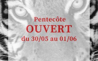 Week-end de Pentecôte le zoo sera ouvert
